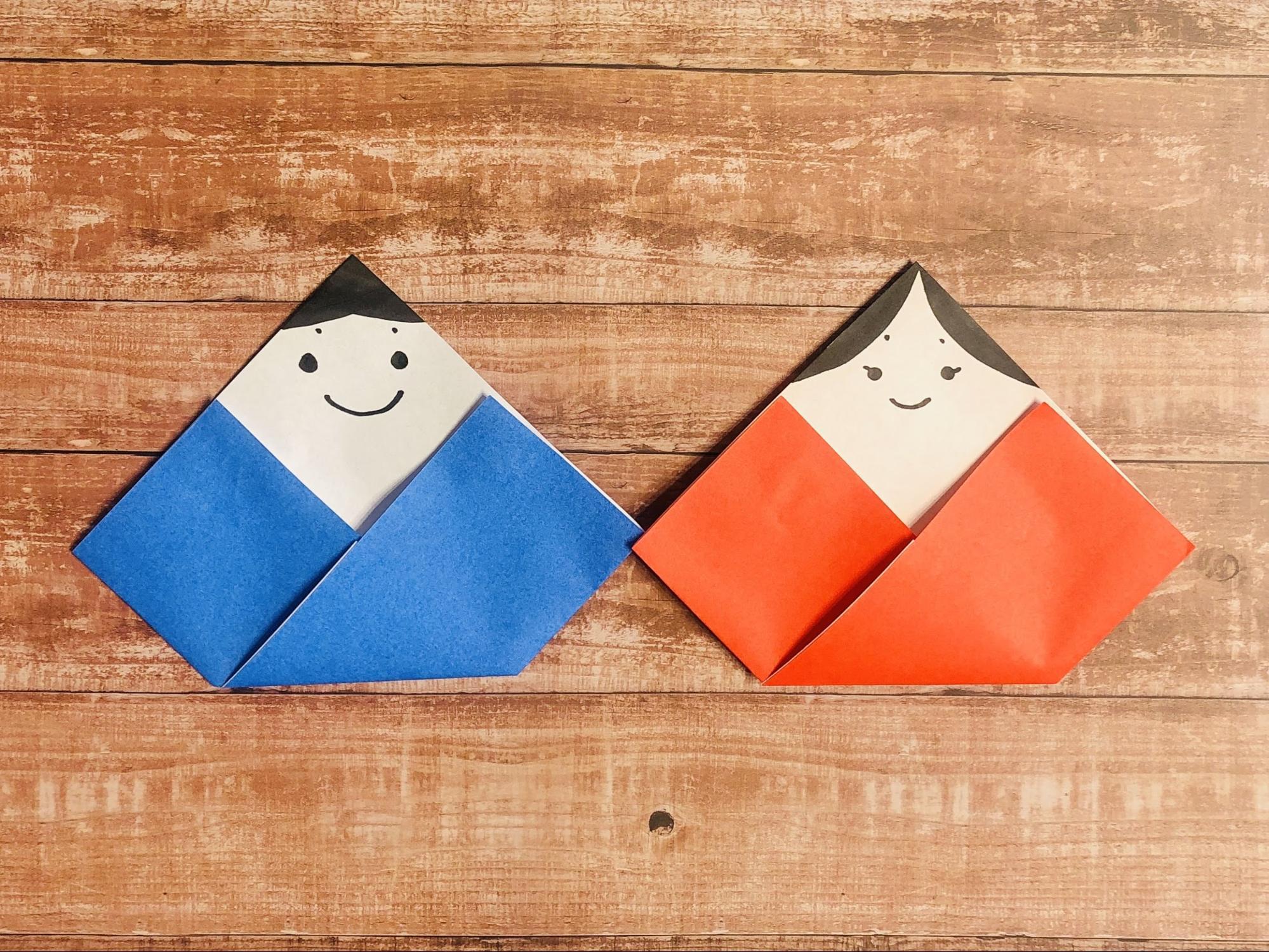 折り紙 お雛様 作り方 簡単